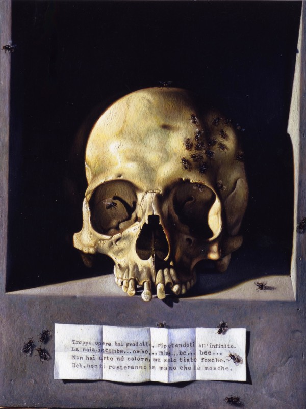 Skull (after Hans Memling) (1) by Maurizio Bottoni