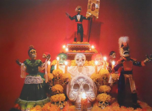 A Commemoration of the Bicentennial Proclamation of the Independence of Mexico (Altar of the Dead) by Rudolfo Villena Hernandez