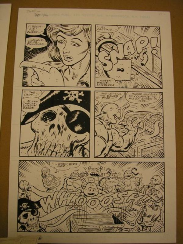 Original Storyboards for Teenage Mutant Ninja Turtles by Don Simpson and Dean Clarrain