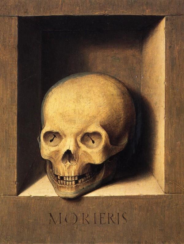 Portrait of a man / A Skull in a Niche by Barthel Bruyn the Elder