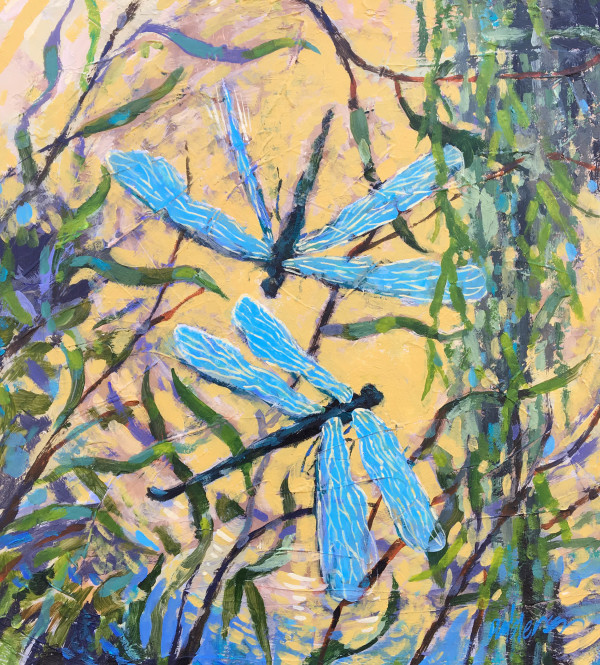 Dragon Flies & Willows by Michael Anderson