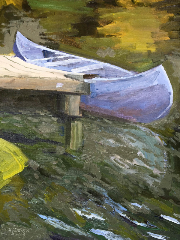 Canoe, Lake Christine by Michael Anderson