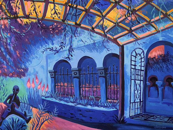 Evening In The Blue Courtyard by Michael Anderson