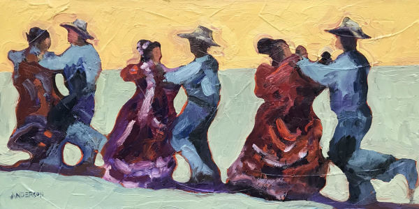 Dancing Vaqueros by Michael Anderson