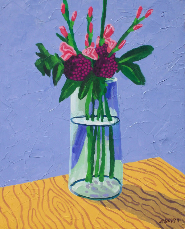 Flowers On A Desk by Michael Anderson