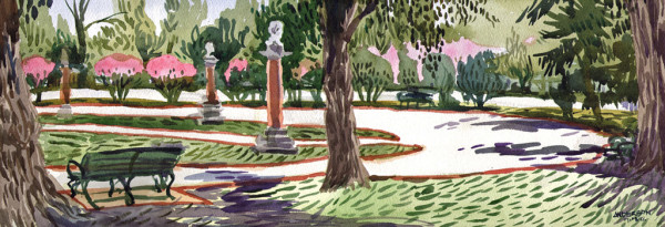 Garden Path(Composers Statues) by Michael Anderson