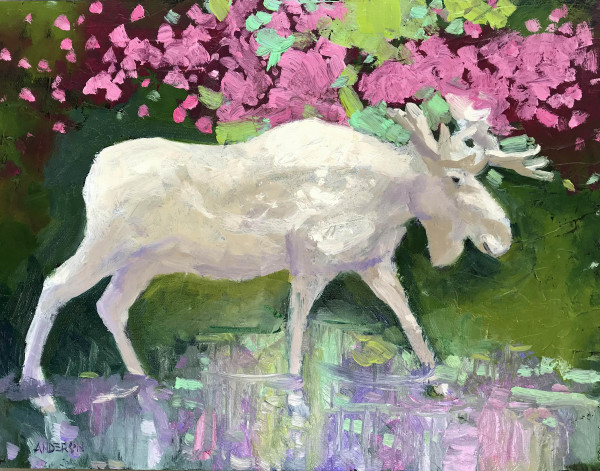 Spirit Moose by Michael Anderson