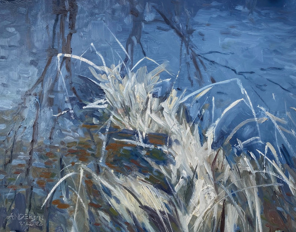Grasses at the Waters Edge by Michael Anderson