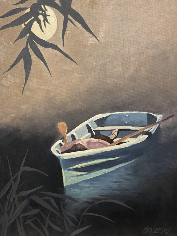 On a Boat, Awake at Night by Michael Anderson