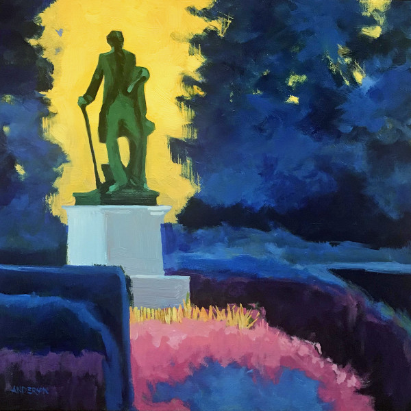 Statue In A Park by Michael Anderson