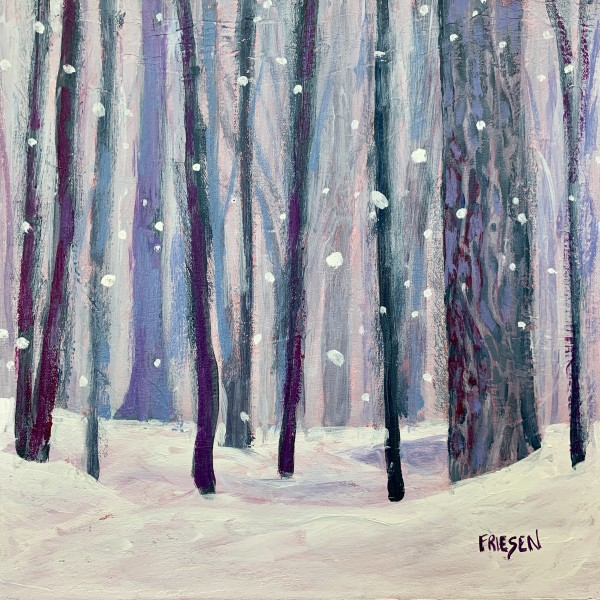 Falling snow by Holly Friesen