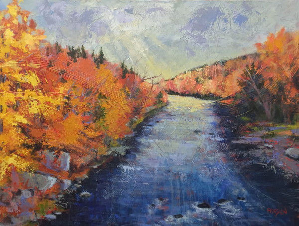 The River Rolls On by Holly Friesen