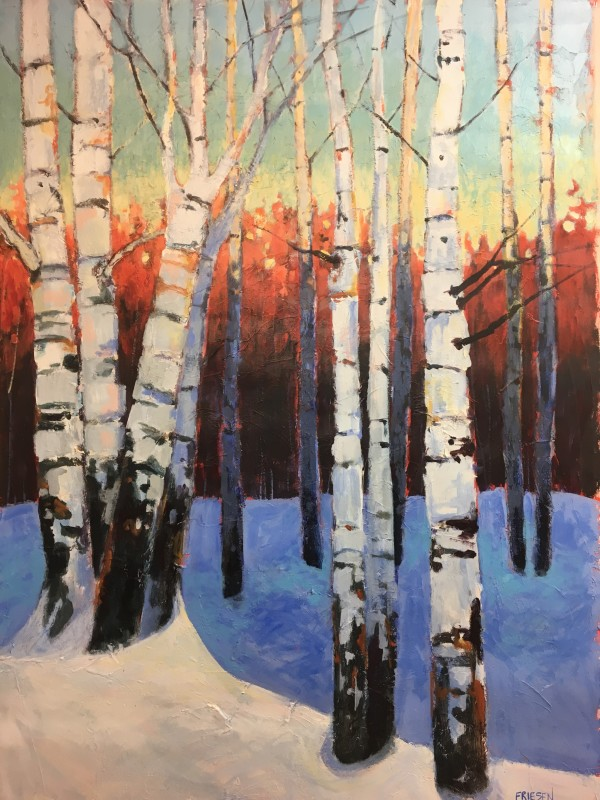 Sleeping Birches 2 by Holly Friesen