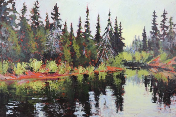 Trees Dreaming River by Holly Friesen