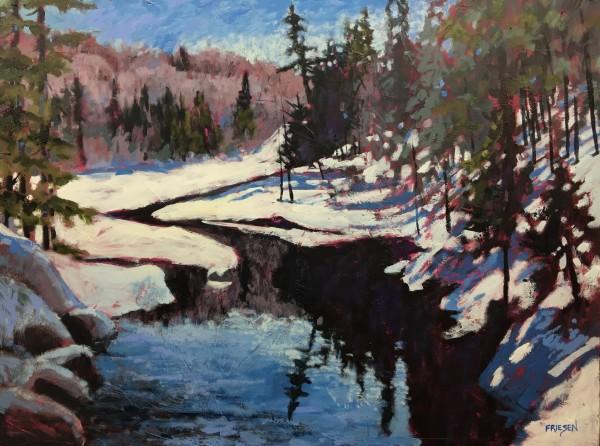 Winter Running River by Holly Friesen