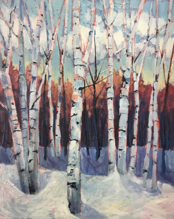 Winter Birch by Holly Friesen