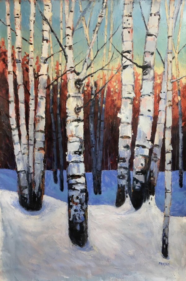 Sleeping Birches 1 by Holly Friesen