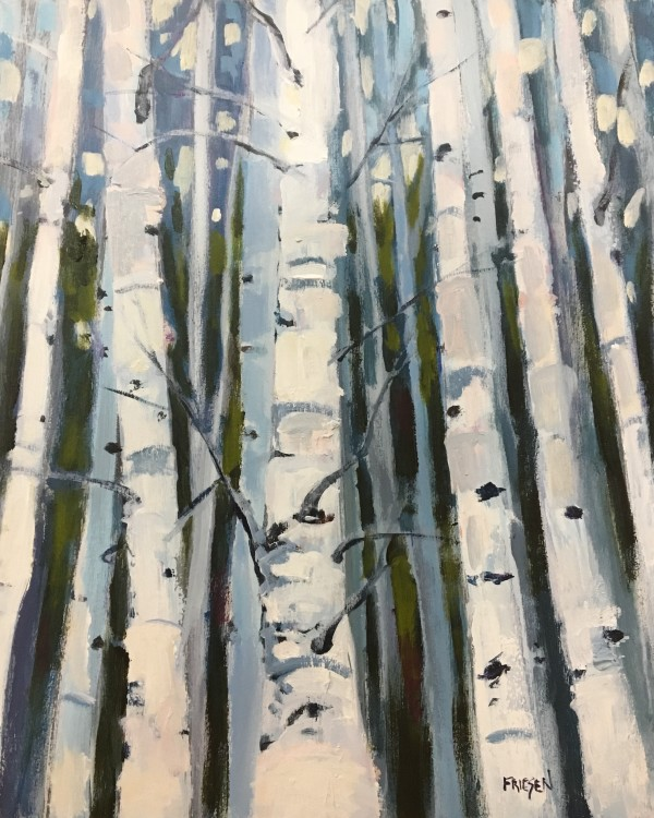 Birch Study by Holly Friesen