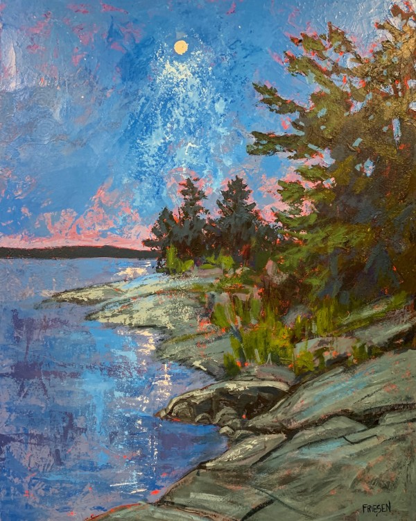 Nocturnal Shoreline by Holly Friesen