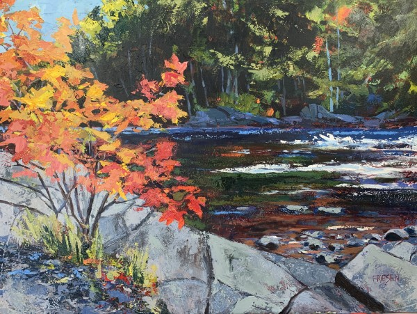 Standing by the River II by Holly Friesen