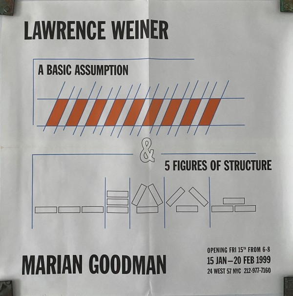 A Basic Assumption & 5 Figures of Structure by Lawrence Weiner