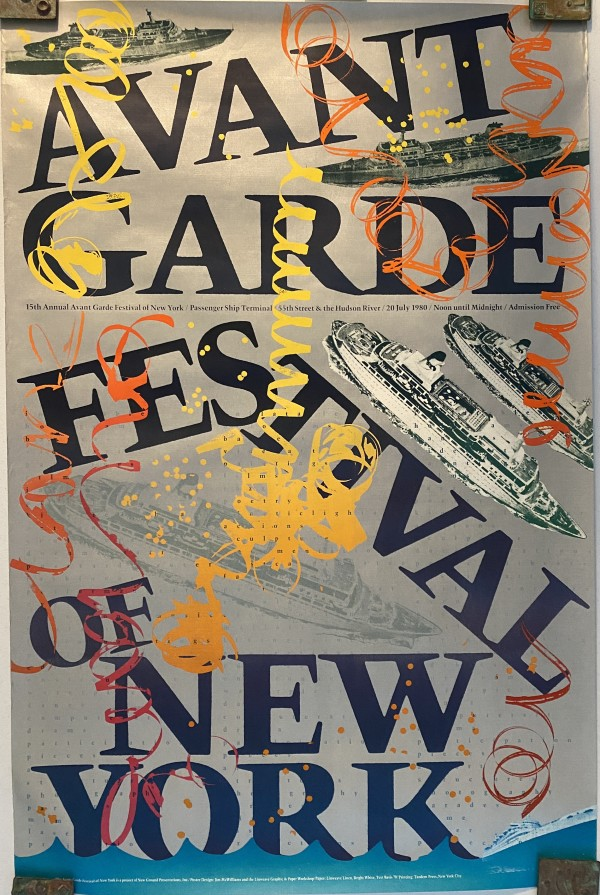 15th Annual Avant Garde Festival of New York Exhibition Poster by Jim McWilliams