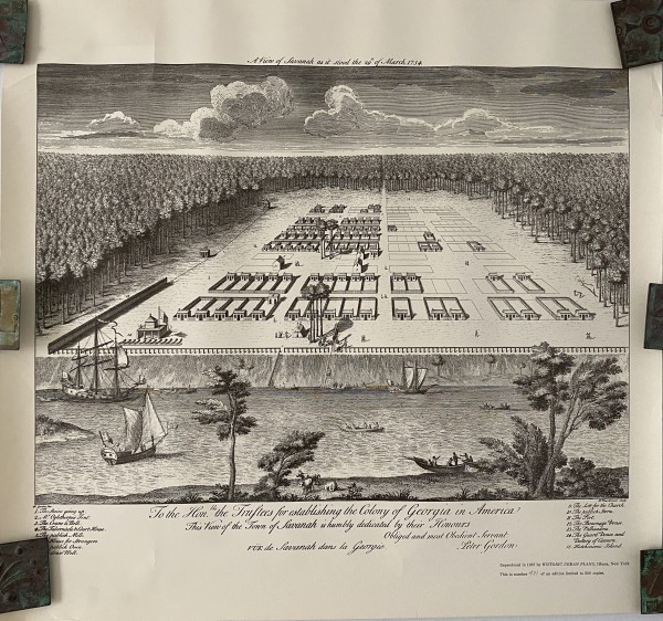 A View of Savanah as it stood the 19th of March 1734 by P. Fourdrinier