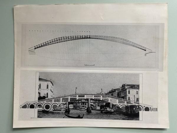 1985 press photo,  Venetian bridge designed by Robert Venturi by Robert Venturi