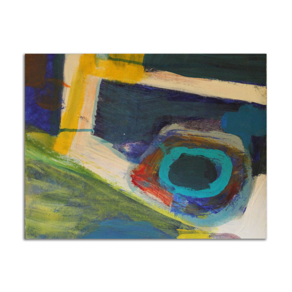 Abstract Blue by Stephanie Cramer