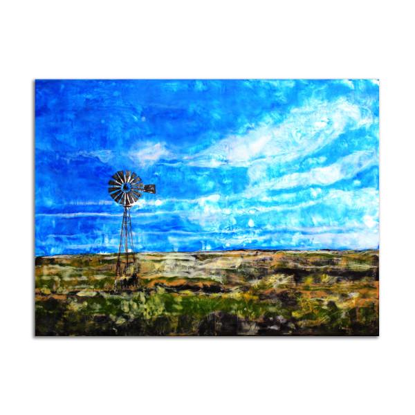 Blue Windmill by T.D. Scott