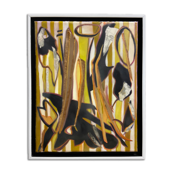 Brushfire: After Lee Krasner's Shooting Gold (1955) by Christie Snelson