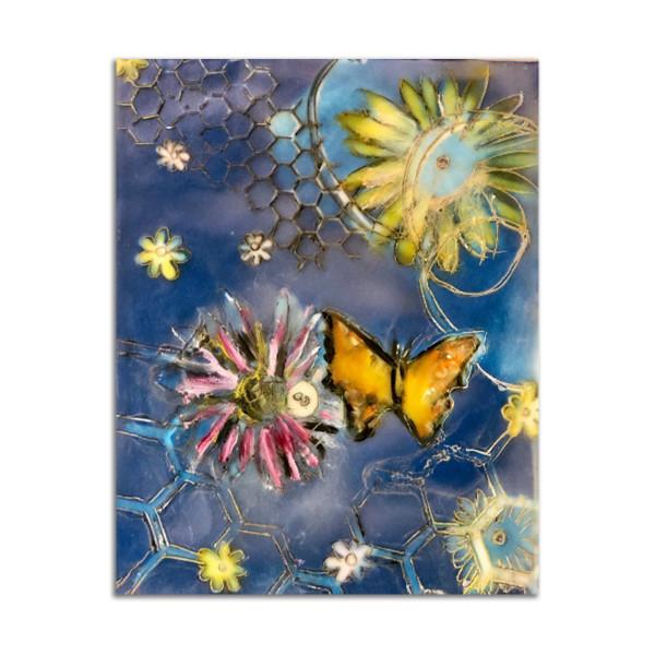 Cyan Butterfly by Kat Allie