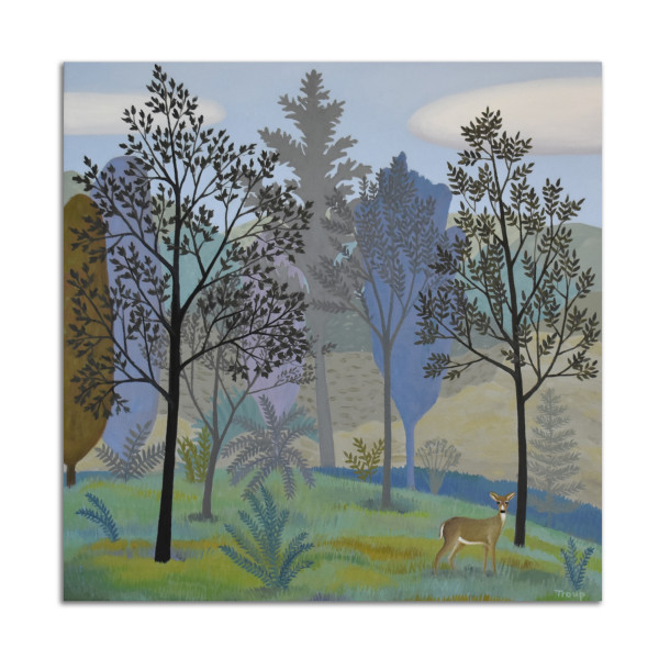 Deer and Trees by Jane Troup