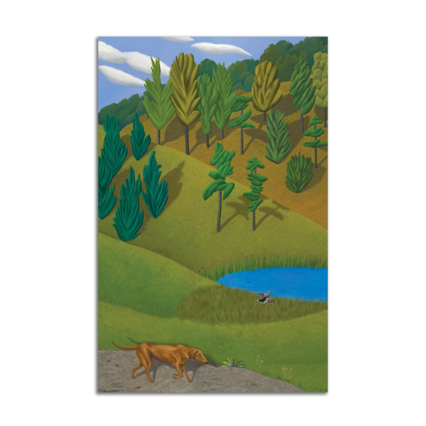 Dog and Pond by Jane Troup