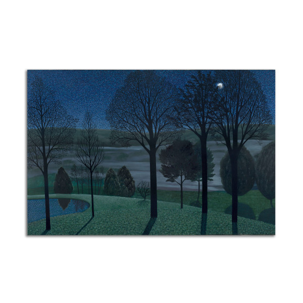 Evening Moon and Mist by Jane Troup
