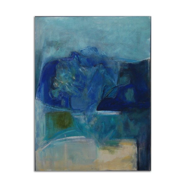 Flowers with Blue Vase by Jane Parker