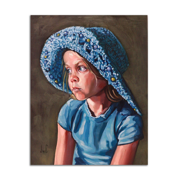 Girl in Blue Hat by Jared Gillett