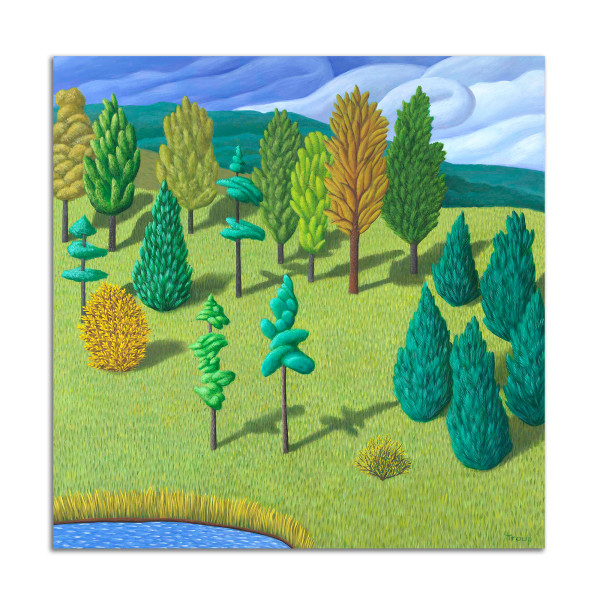 Hill with Trees by Jane Troup