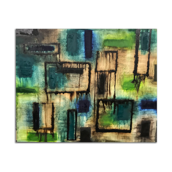 Multiform in Blue and Green by J. Kent Martin
