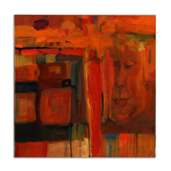 Red Figure Abstract by Stephanie Cramer