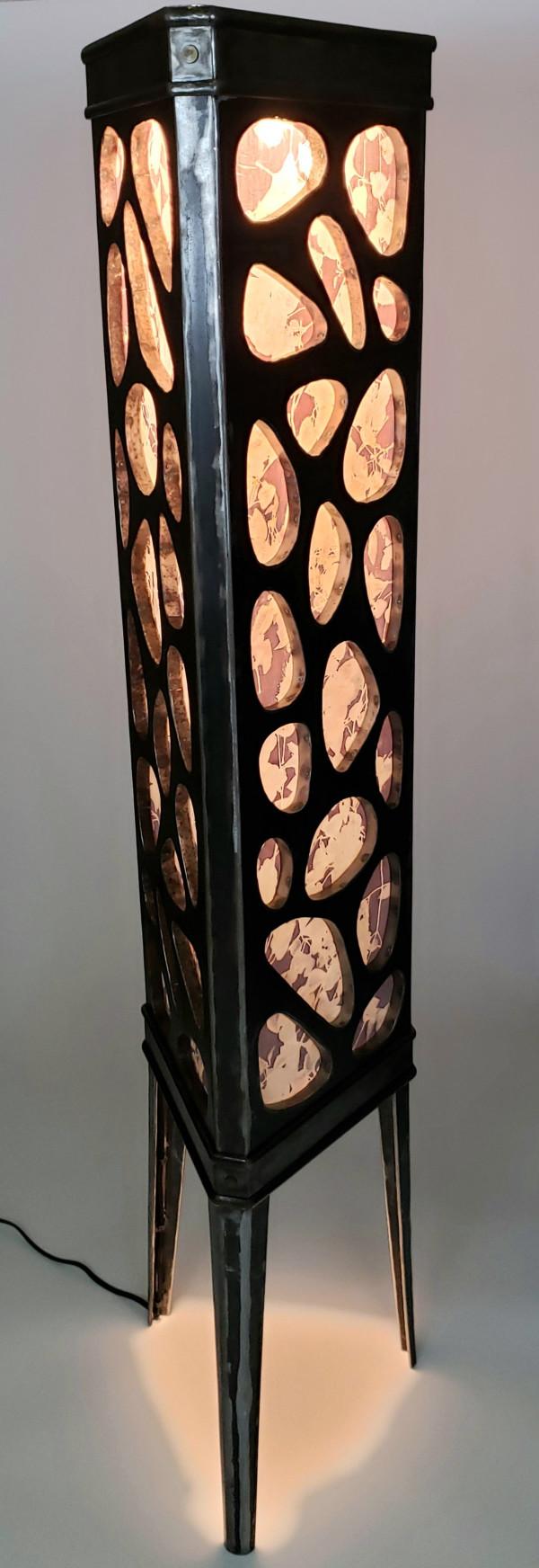 Cobblestone Iron + Eco Printed Silk Sculpture by Michael Stelzer X Becky White