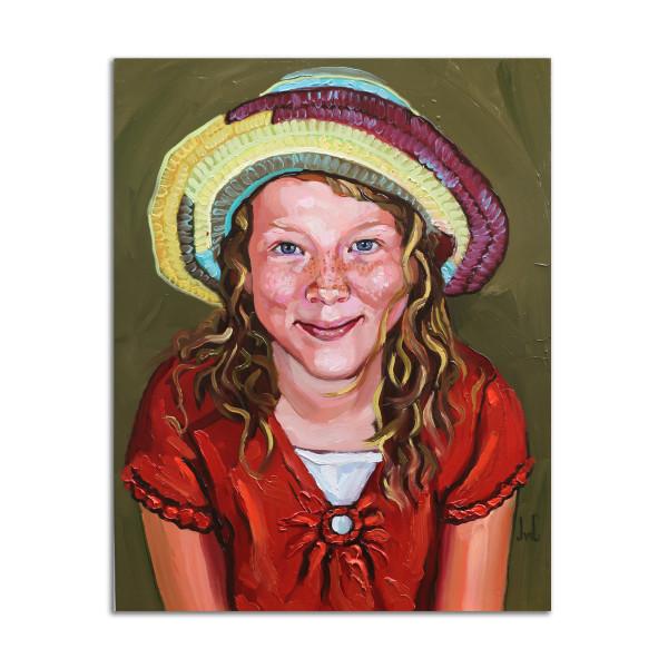 Straw Hat Girl by Jared Gillett