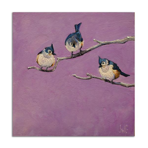 Titmice in Purple by Jared Gillett