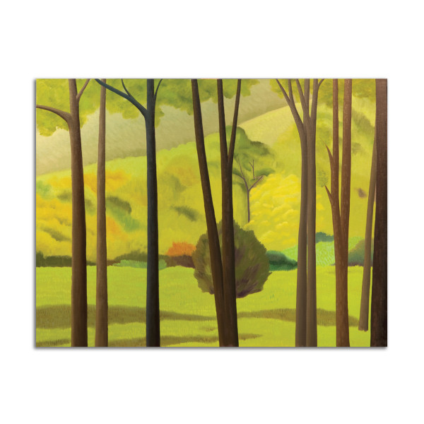 Trees and Hill by Jane Troup