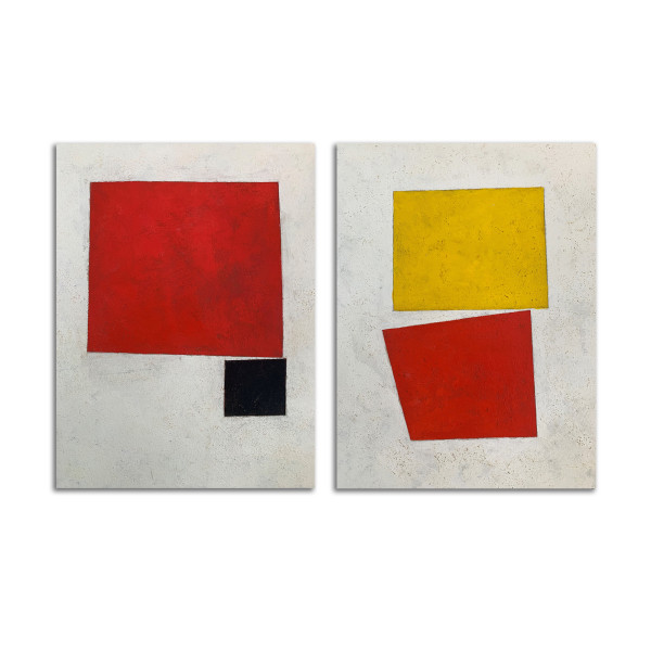 Ode to Malevich (diptych) by Michael Bane
