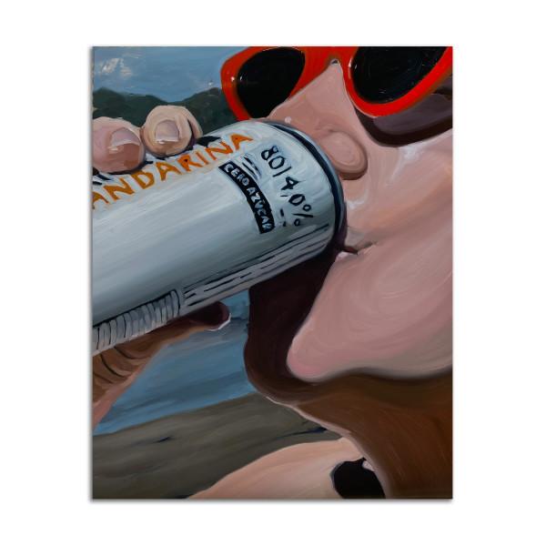Kristen Drinking by Madeline Brice