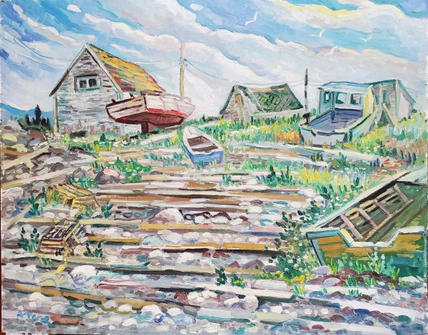 Boats at Gullivors Cove by Anthony Pace