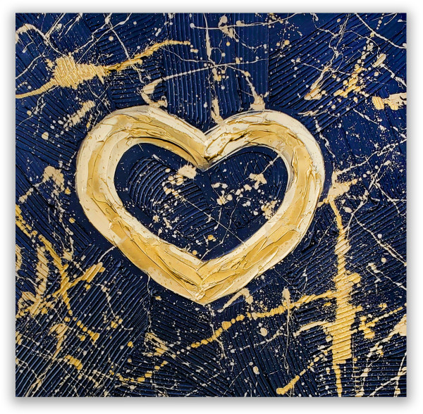BLACK GOLD BOLD HEART