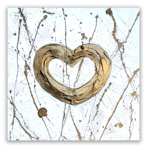 WHITE GOLD BOLD HEART