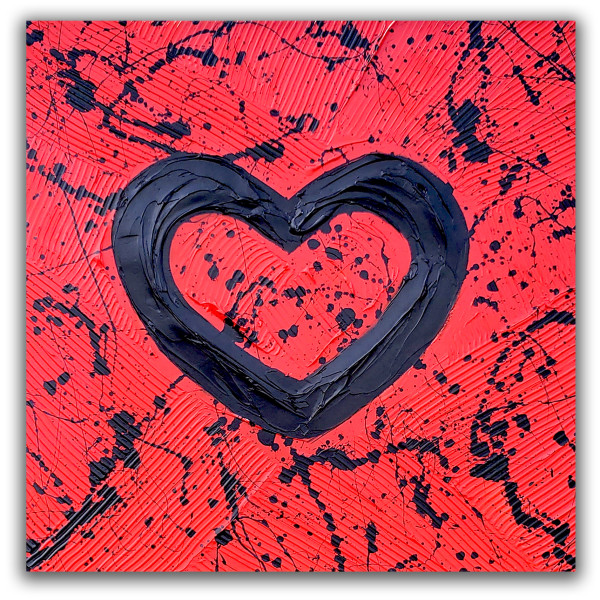 RED BOLD HEART